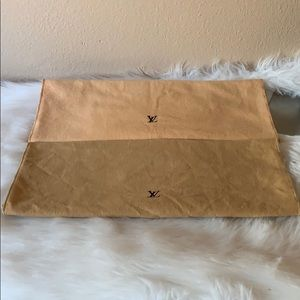 2pcs brown envelope dustbag